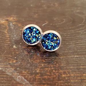 Jewelry - 🧜♀️ Mermaid Tail Earrings 8mm Druzy🧜♀️